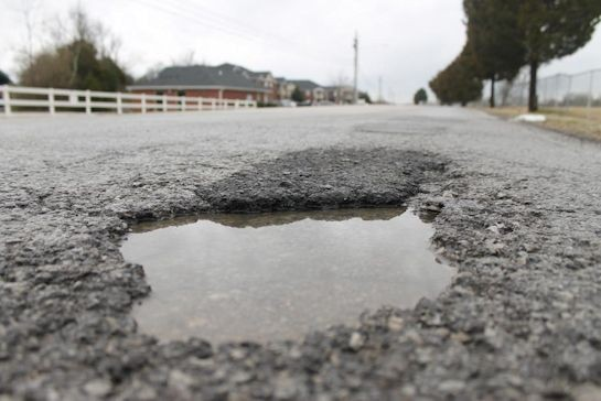Wilson County works to fill potholes
